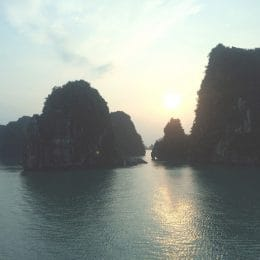 Halong Bay Vietnam sunset