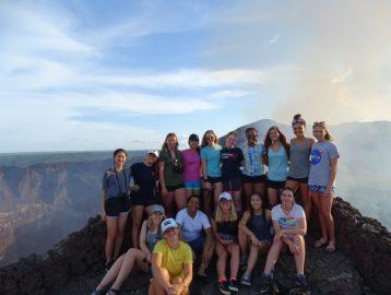 Group photo at masaya volcano