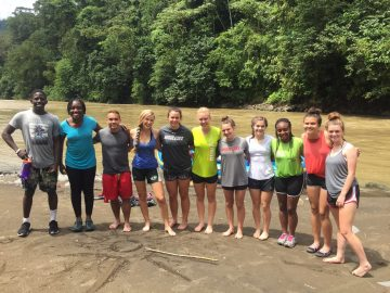 group shot rio pacuare costa rica post rafting adventure